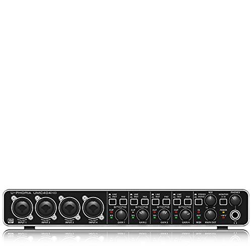 Behringer U-PHORIA UMC404HD interfaccia audio 4x4 midi/usb 24bit/192khz con preamp midas e phantom +48v