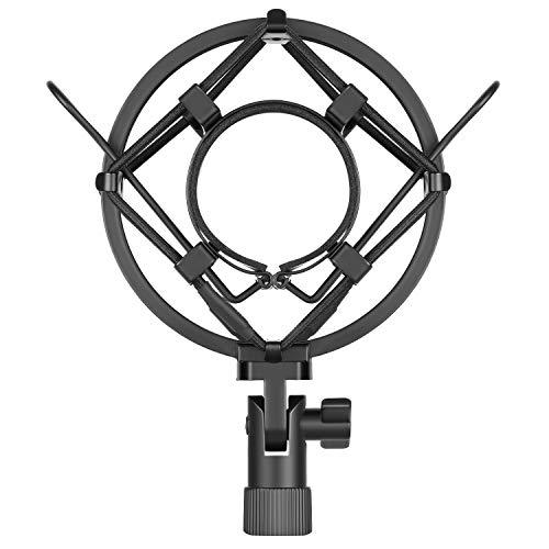 Neewer Supporto Antiurto Universale 45mm di Microfono per Microfono a Condensatore di Diametro 43mm-46 mm (Nero)