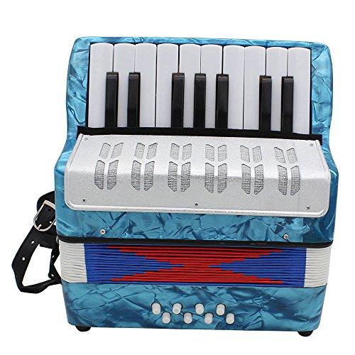 DSstyles - Mini fisarmonica professionale a 17 tasti, per bambini e adulti, Light blue