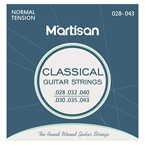 MARTISAN Set Corde per Chitarra Classica Tensione Normale con 3 Plettri per Chitarra
