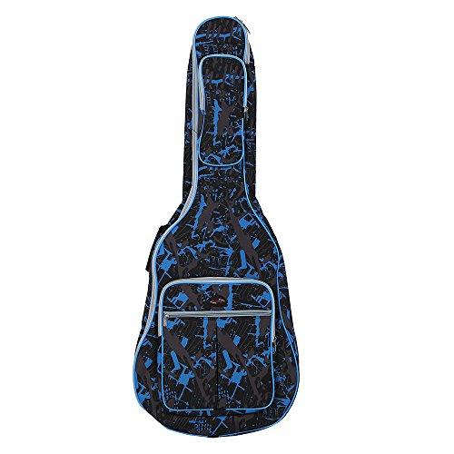 ammoon Custodia Chitarra Impermeabile 600D Panno Di Oxford Imbottite Camouflage Blu Cuciture Doppie Per 41Inchs Chitarra Acustica Chitarra Classica