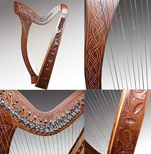 Arpa celtica a 27corde con chiavi semitono