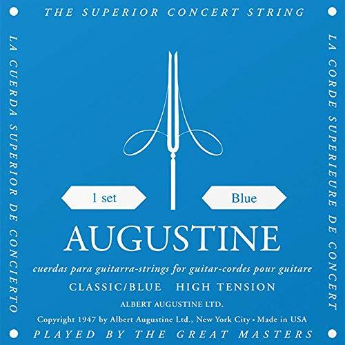 Augustine 650437 Corde per Chitarra Classica, Etichetta Blu, Set Standard-Cantini, Tensione Normale/Alta