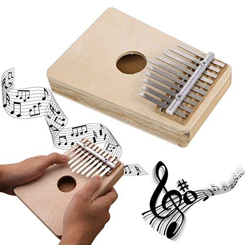 Pollice pianoforte, Everesta Professional Portable 10 Key Kalimba Mbira piano strumento musicale per Music Lover e principianti, Beige