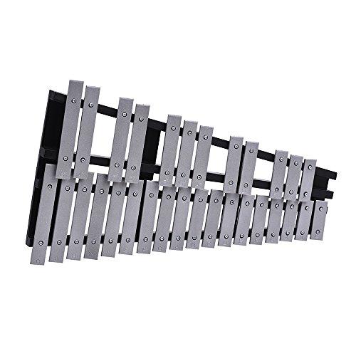 ammoon Xilofono 30 Nota Glockenspiel Pieghevole Cornice di Legno Barre in Alluminio Regalo per Strumenti Musicali a Percussione con il Sacchetto di Trasporto