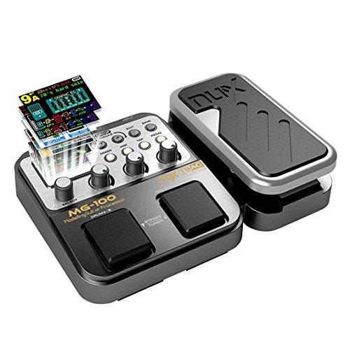 MG-100 Multieffetto Pedale Professionale Processore di Strumenti Musicali 40s Record 55 Effetti Modalit¨¤ 10 Sound Di Box Pedale per Chitarra e Basso Elettrica,Regalo di Natale