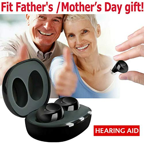 Amplificatore audio digitale con custodia USB di ricarica portatile, un paio di apparecchi acustici, apparecchi acustici anziani, la certificazione FDA, adatto a persone con danni all'udito, aspetto B