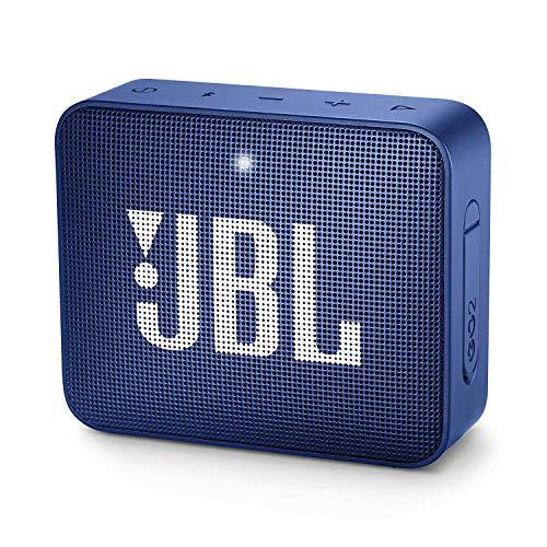 JBL GO 2 Speaker Bluetooth Portatile, Cassa Altoparlante Bluetooth Waterproof IPX7, Con Microfono, Funzione di Noise Cancelling, Fino a 5h di Autonomia, Blu
