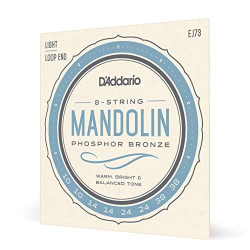 D'Addario EJ73 Phosphor Bronze Set per Mandolino, Tensione Bassa, 10-38