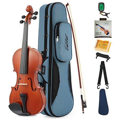 Eastar 1/4 Violino Acustica Adulto Principiante Bambino Violino Kit Naturale Legno con Custodia Poggiaspalla Arco Colofonia Accordatore e Corde(EVA-1)