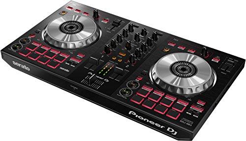 Pioneer DJ – Controller DJ a 2 canali per Serato DJ Lite – Mixer – Accessorio per DJ – Pad Scratch – Due grandi Piatti in Alluminio