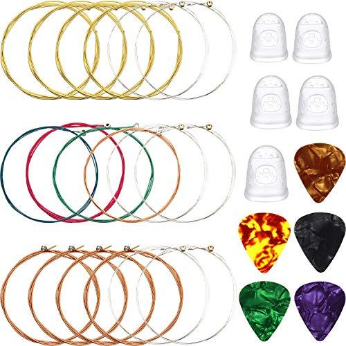 Corde Chitarra Classica Nylon,Corde Chitarra Classica Metallo,Protezione per Le Dita Chitarra,Corde per Chitarra Classica,Guitar Pick Finger,Corde Per Chitarra Acustica