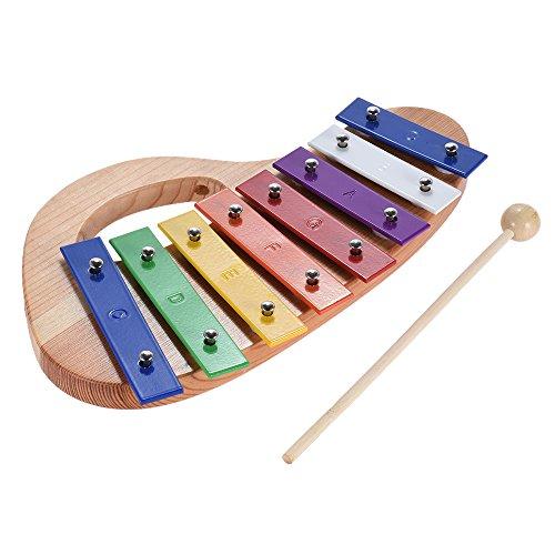 ammoon Legno di Pino xilofono 8-Nota 3mm Piastra di Alluminio Colorato con Maniglia Maglio di Legno Bastone Squisito Percussioni Toddle Bambino Giocattolo Musicale