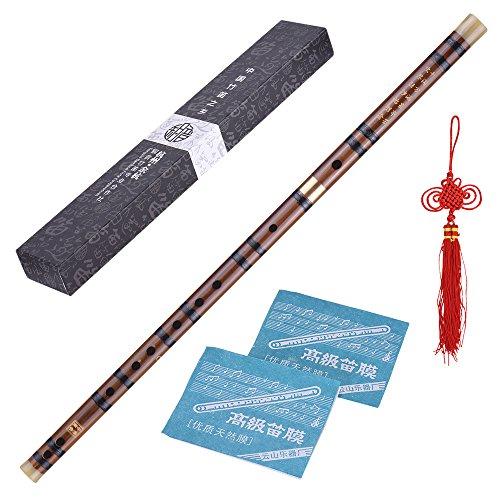 ammoon Dizi Cinese Flauto Tradizionale C Chiave Pluggable Bambù Amaro Fatto a Mano Musicale Strumento a Fiato