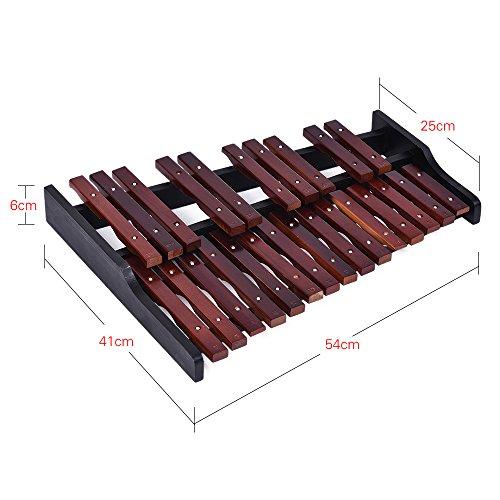 Fesjoy xilofono legno 25 Nota Xilofono in Legno Percussioni Educative Regalo di Strumento Musicale con 2 Modelli