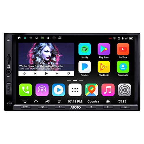 ATOTO A6 2 Din Android Car Navigation Stereo con 2 Bluetooth - Standard A6Y2710SB 1G / 16G Car Multimedia Radio, BT Tethering Internet/WiFi, supporto 256G SD e altro