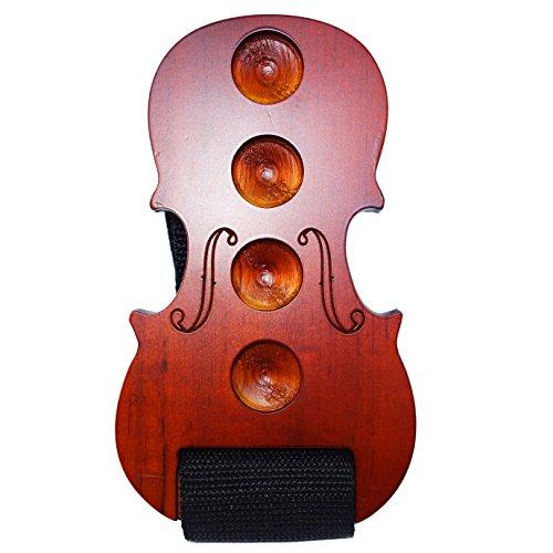 Moreyes Poggiapuntale per violoncello, in legno, antiscivolo, red