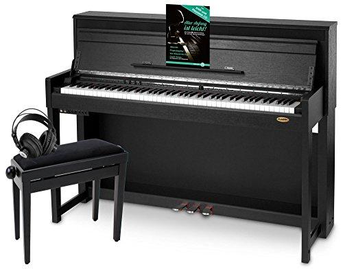 Classic Cantabile UP-1 SM Pianoforte digitale nero opaco SET deluxe