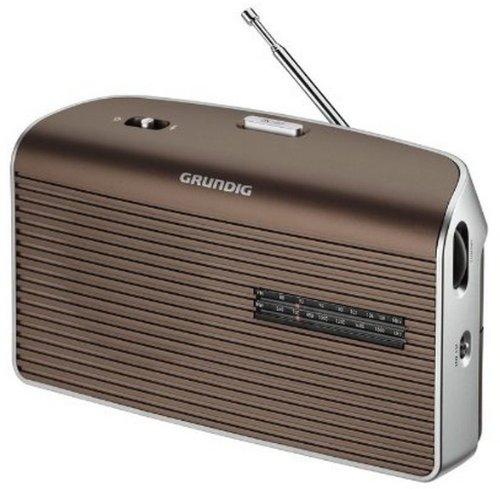 Grundig GRN1550 Music60 Radio, Marrone/Argento