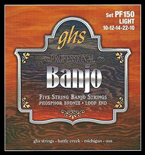 GHS Corde per banjo leggero 10-12-14-22-10