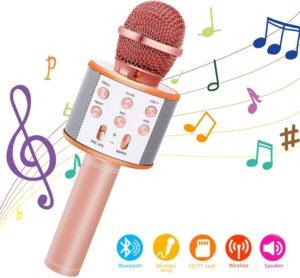 Bearbro Microfono Karaoke Bluetooth con Altoparlante