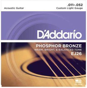 D'Addario EJ26- corde chitarra acustica suono caldoD'Addario EJ26- corde chitarra acustica suono caldo