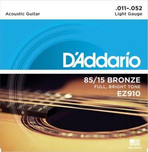 D'Addario EZ910- corde per chitarra acustica molto morbide