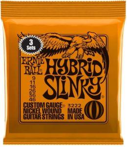 Hybrid Slinky Nichel- corde chitarra elettrica Ernie Ball