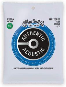 Martin MA170PK3- corde per chitarra acustica migliori