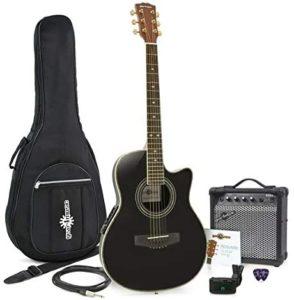 Roundback- chitarra acustica con amplificatore