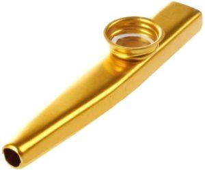 Sodial- kazoo in metallo dorato