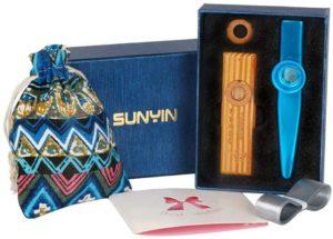 Sunyin- kazoo in metallo e in legno