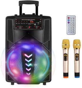 S SMAUTOP- casse per karaoke bluetooth