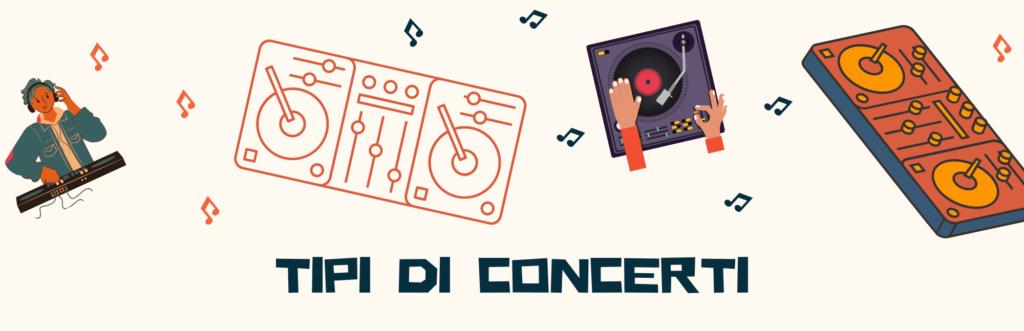 console dj tipi di concerti