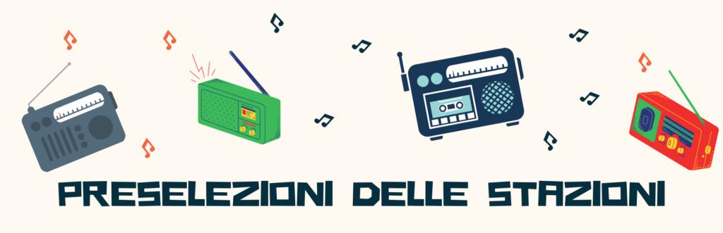 radio portatile Preselezioni delle stazioni