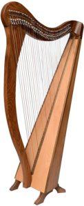 Arpa A-P: arpa celtica irlandese a leva intera