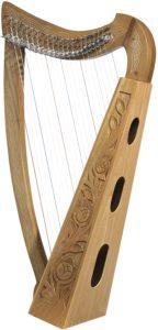 Design Toscano: arpa celtica in palissandro