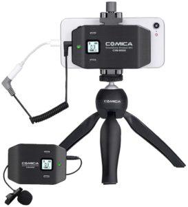 Comica CVM-WS50(C): microfono lavalier per smartphone